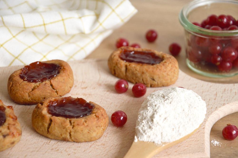 Biscuits vegan cacahuètes groseilles