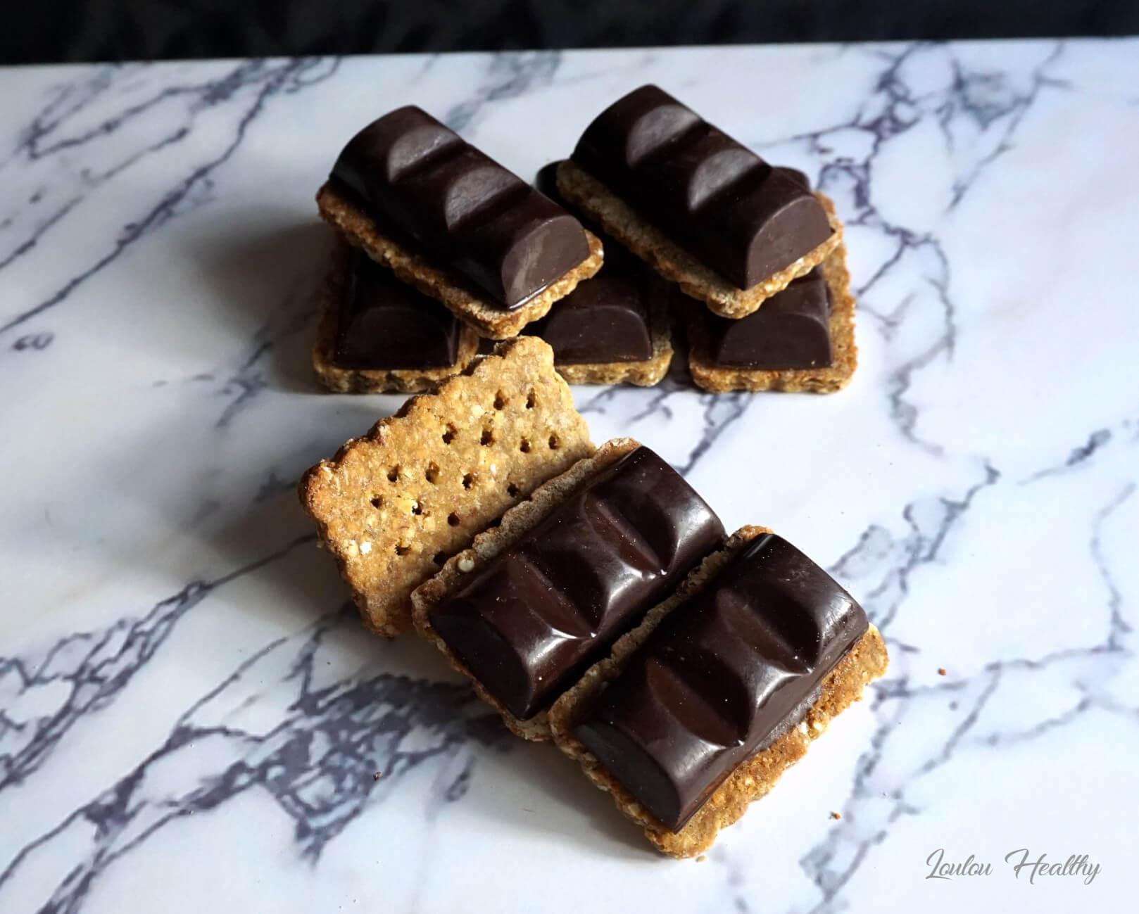 Biscuits chocolat noisette et miel