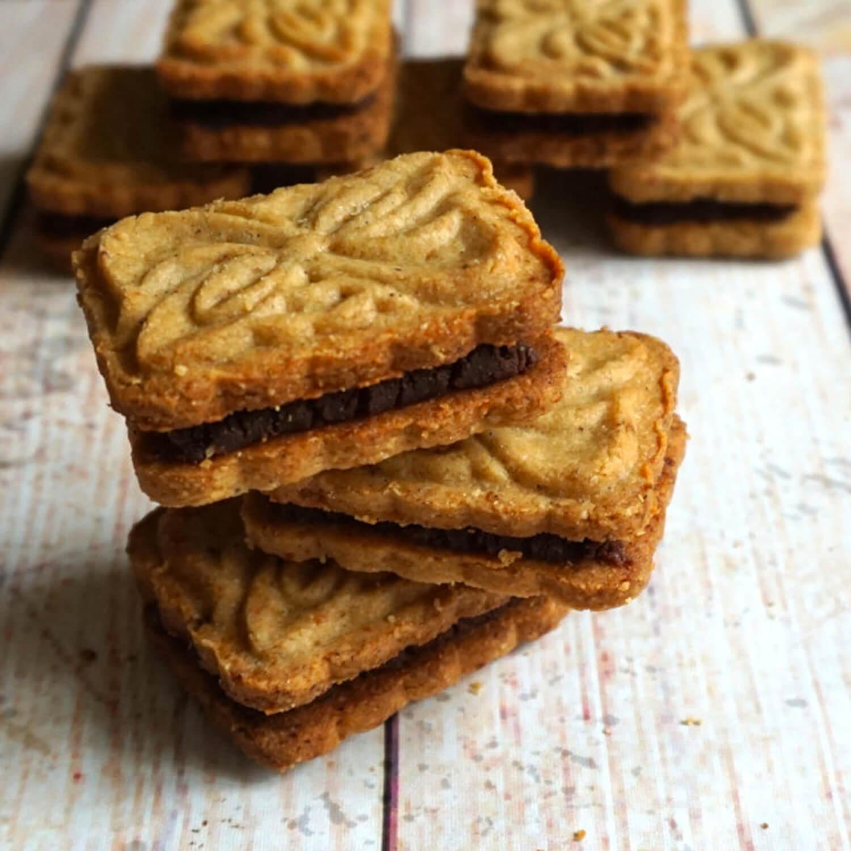 Biscuits chocolat et purée d'oléagineux