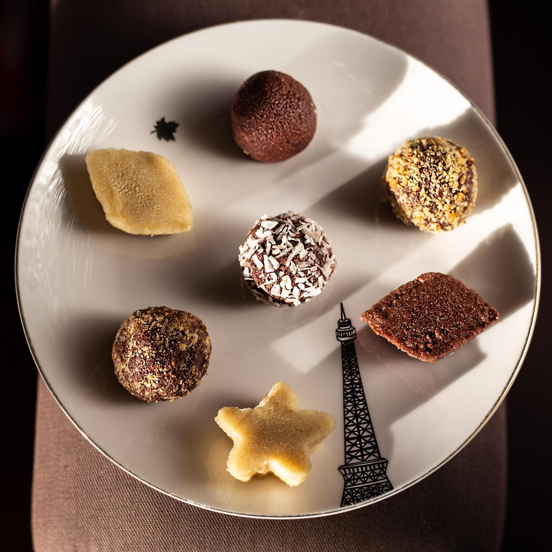 Bouchées glacées au cacao cru