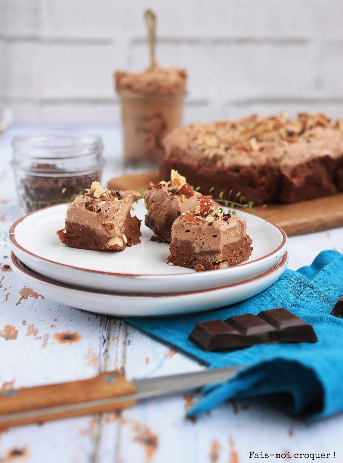 Brownie vegan au cacao cru