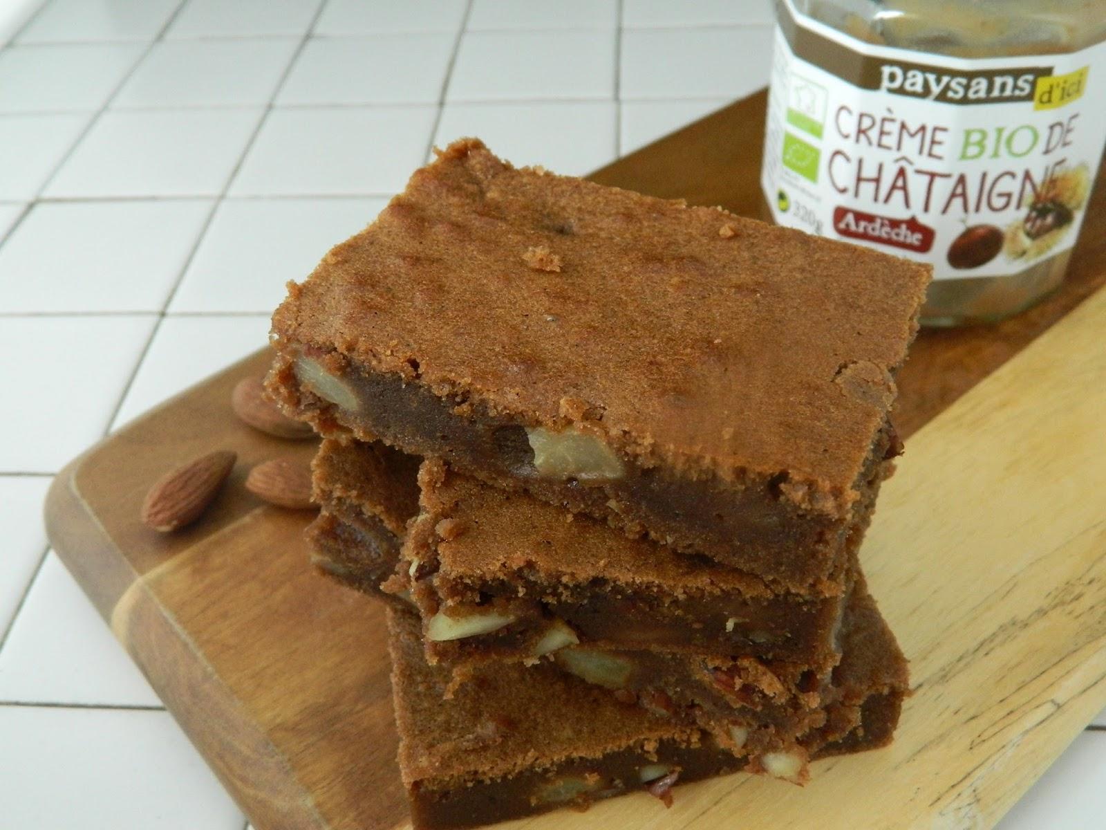 Brownie à la crème de châtaigne équitable et bio