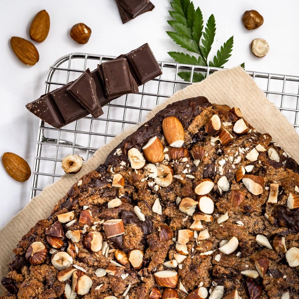 Brownies amandes et chocolat, équitable et bio