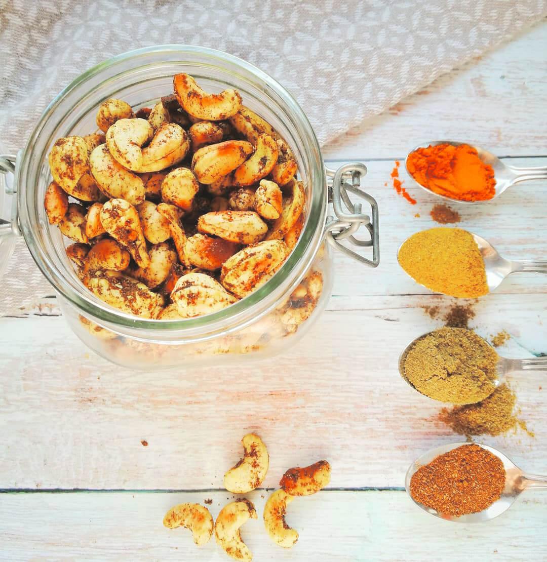 Recette express de cajous grillées aux épices