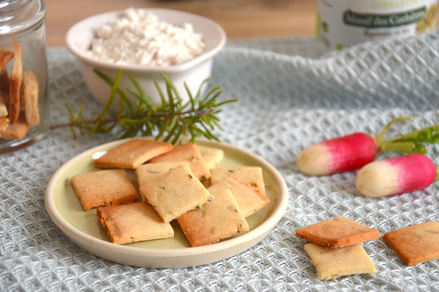 Crackers vegan sans gluten mais cajou