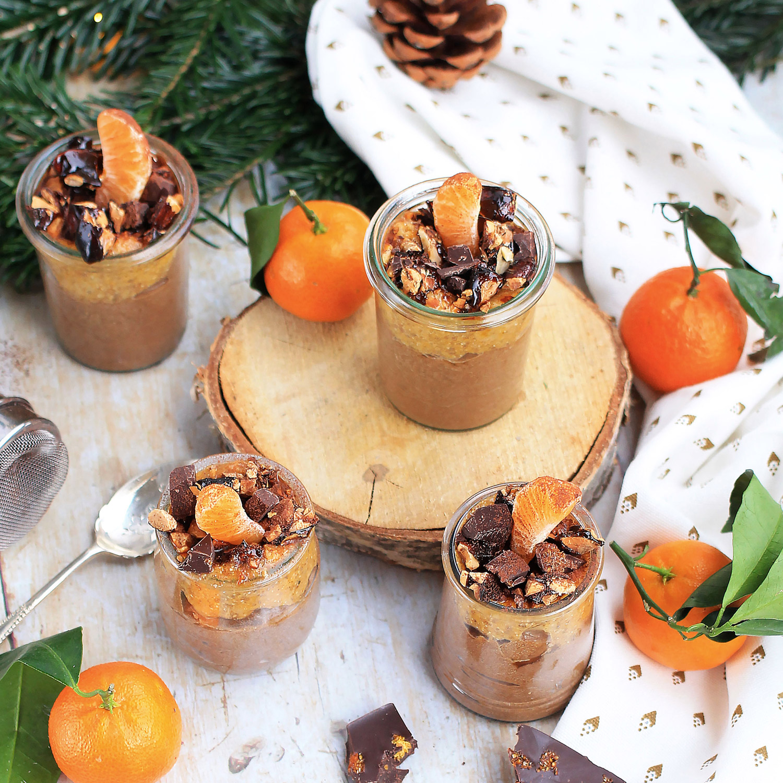 Crème de cacao cru et crupote de Clémentine