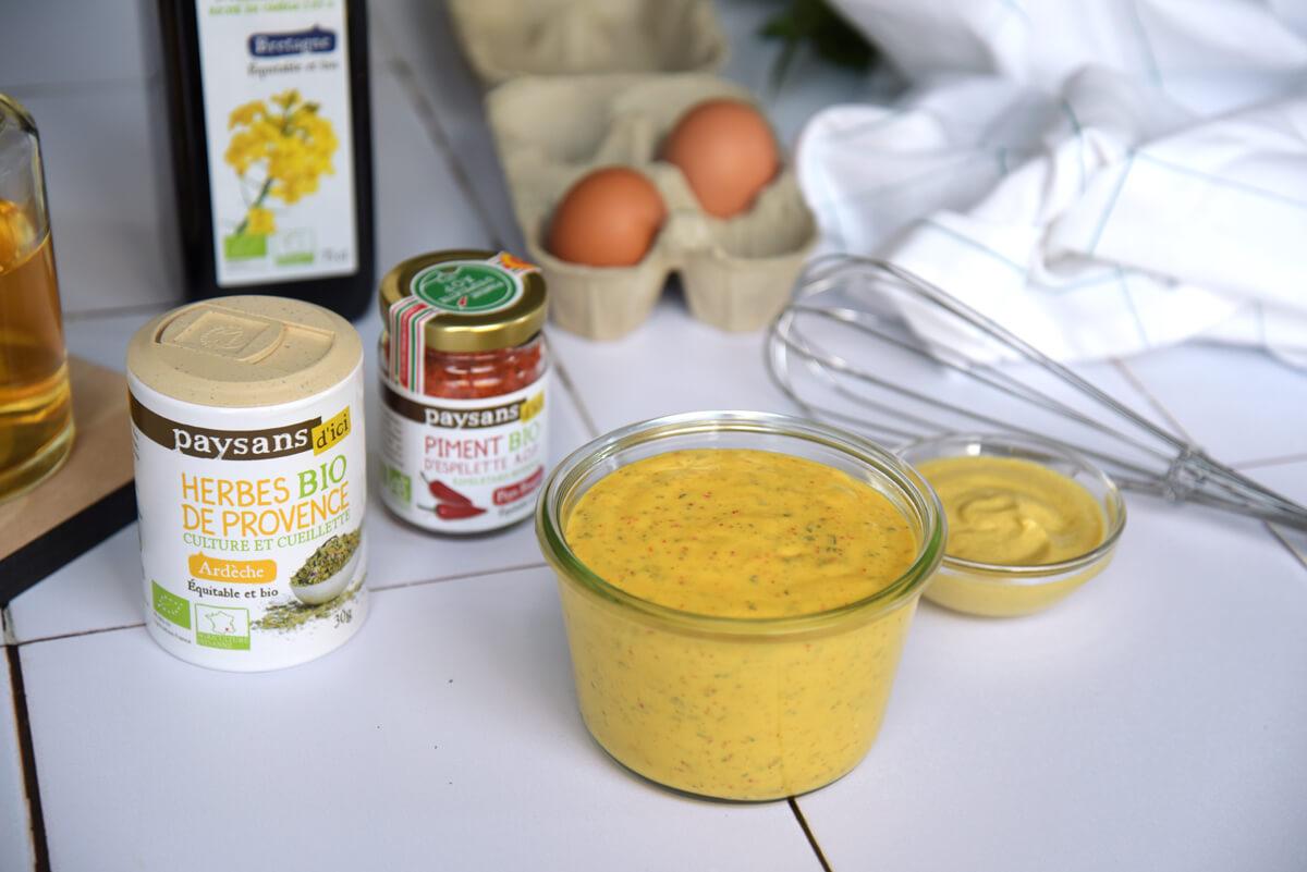 mayonnaise allégée piment d'Espelette et herbes de Provence