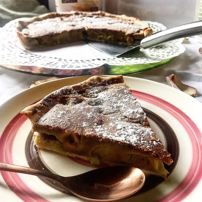 tarte à la rhubarbe équitable bio