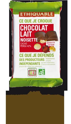 chocolat noir noisette bio equitable