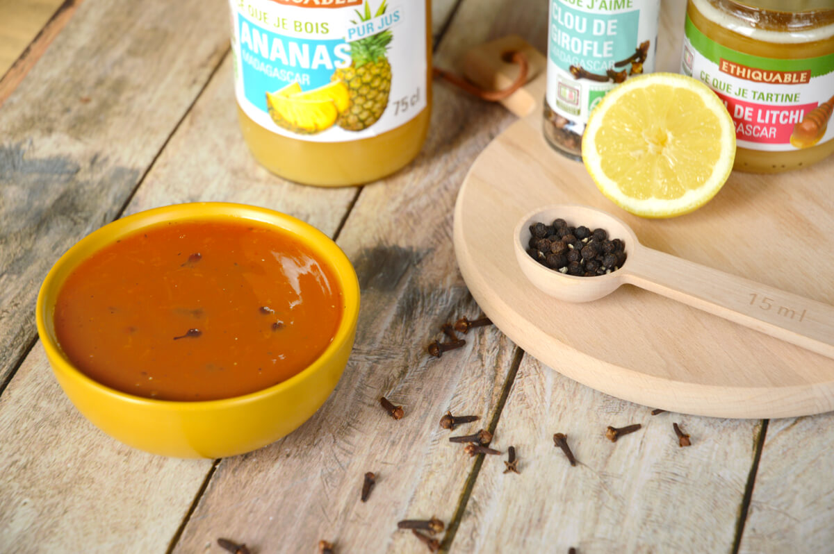 Sauce aigre douce à l'ananas bio