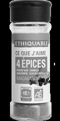 4 epices bio equitable ethiquable