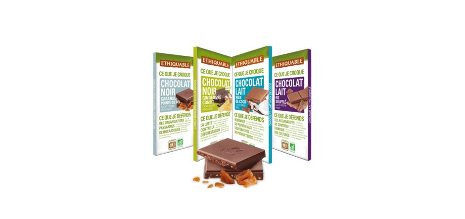 chocolat noir lait ethiquable bio commerce équitable