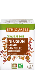 Infusion cacao cannelle bio equitable ethiquable