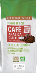 café arabica Pérou moulu 1kg ethiquable bio commerce équitablef