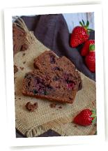 Cake fondant chocolat fruits rouges sans gluten
