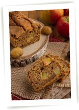 Cake bio d'automne châtaigne et pommes