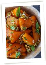 carottes caramélisées au miel de litchi gingembre et curry