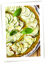 Tarte courgette curry sans gluten