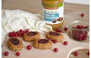 Biscuits vegan cacahuètes et groseille