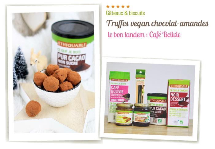 truffe chocolat amande vegan ethiquable