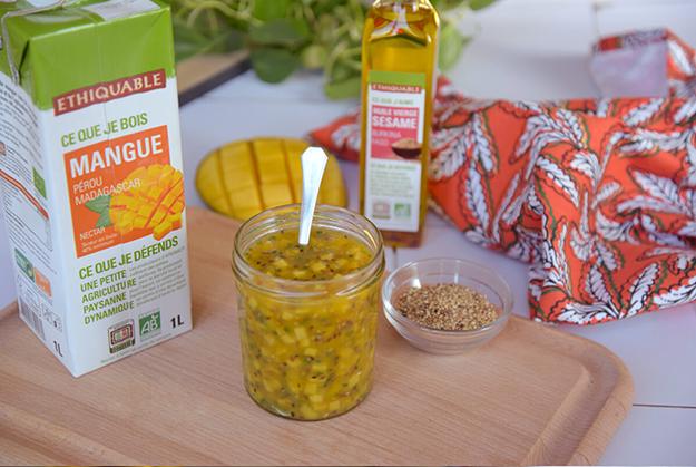 vinaigrette mangue sesame citron vert